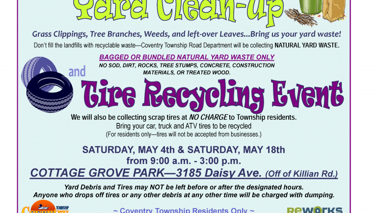 SPRING YARD WASTE & TIRE RECYCLING EVENT